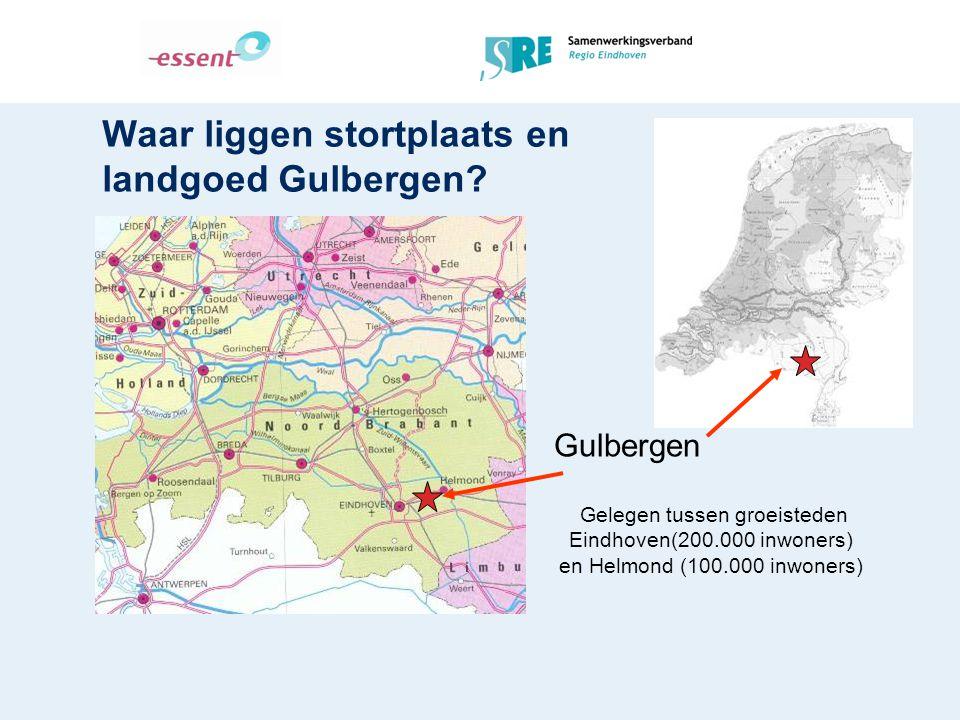Waar liggen stortplaats en landgoed Gulbergen