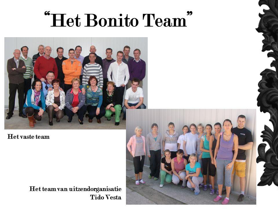 Het Bonito Team Het vaste team Het team van uitzendorganisatie