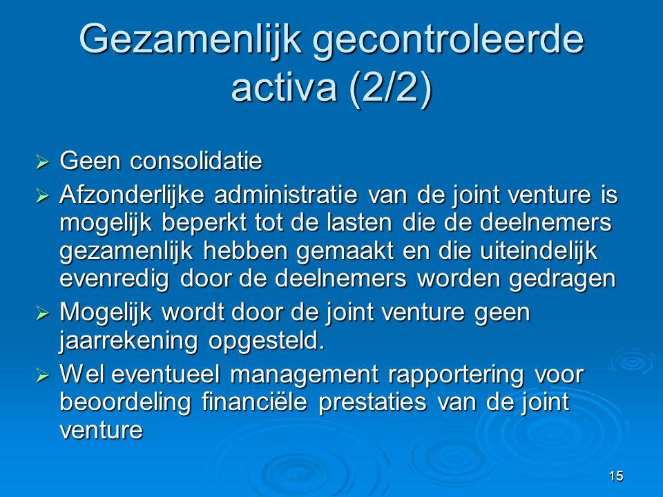 Gezamenlijk gecontroleerde activa (2/2)