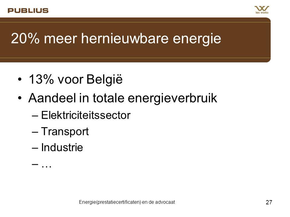 20% meer hernieuwbare energie