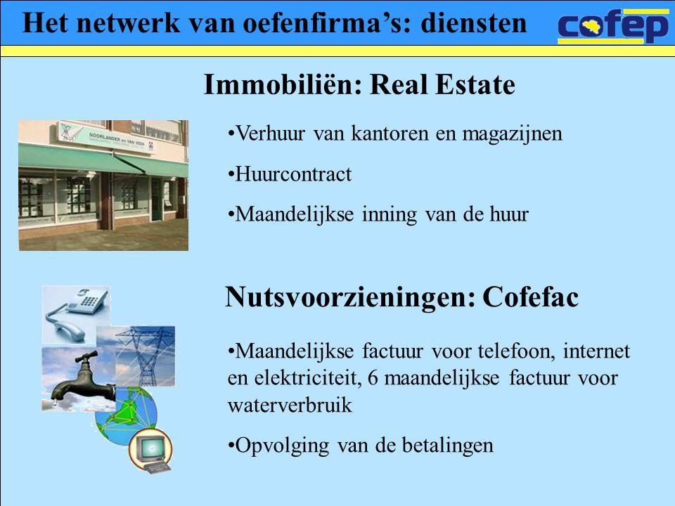 Het netwerk van oefenfirma's: diensten Immobiliën: Real Estate