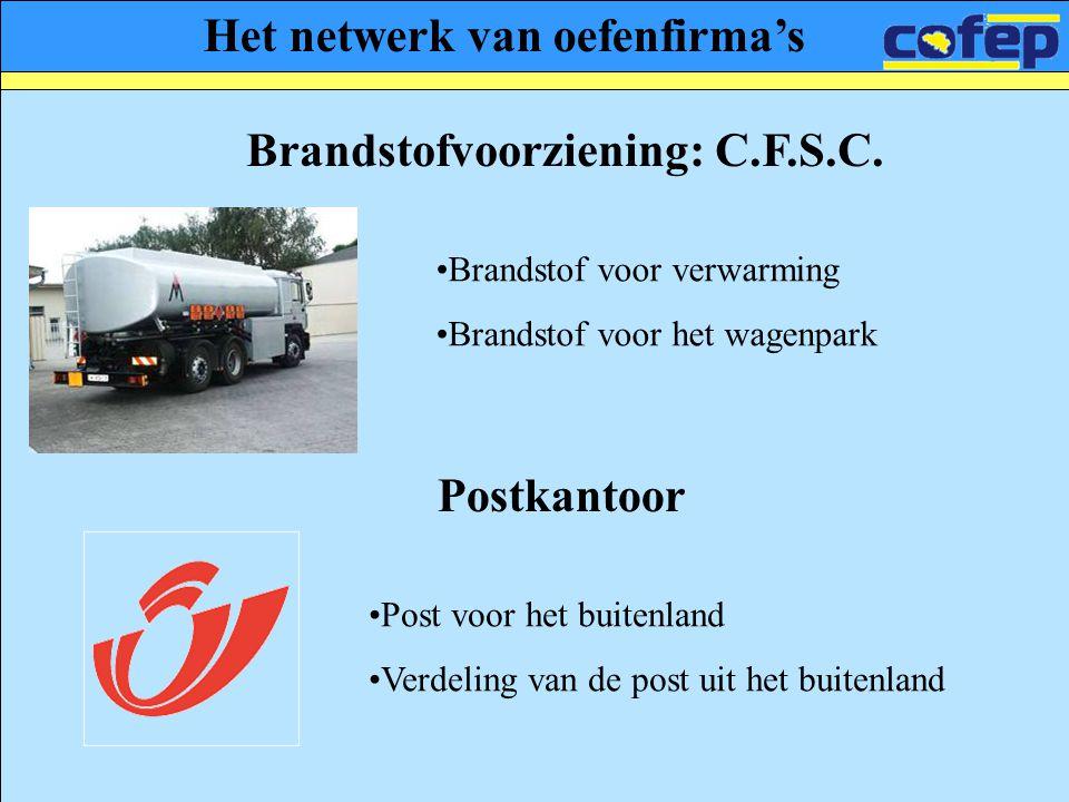 Het netwerk van oefenfirma's Brandstofvoorziening: C.F.S.C.
