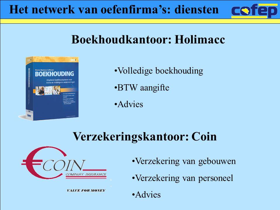 Het netwerk van oefenfirma's: diensten Boekhoudkantoor: Holimacc
