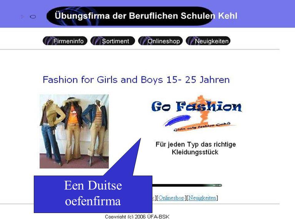 Go Fashion is een Duitse oefenfirma die kleding verkoopt.