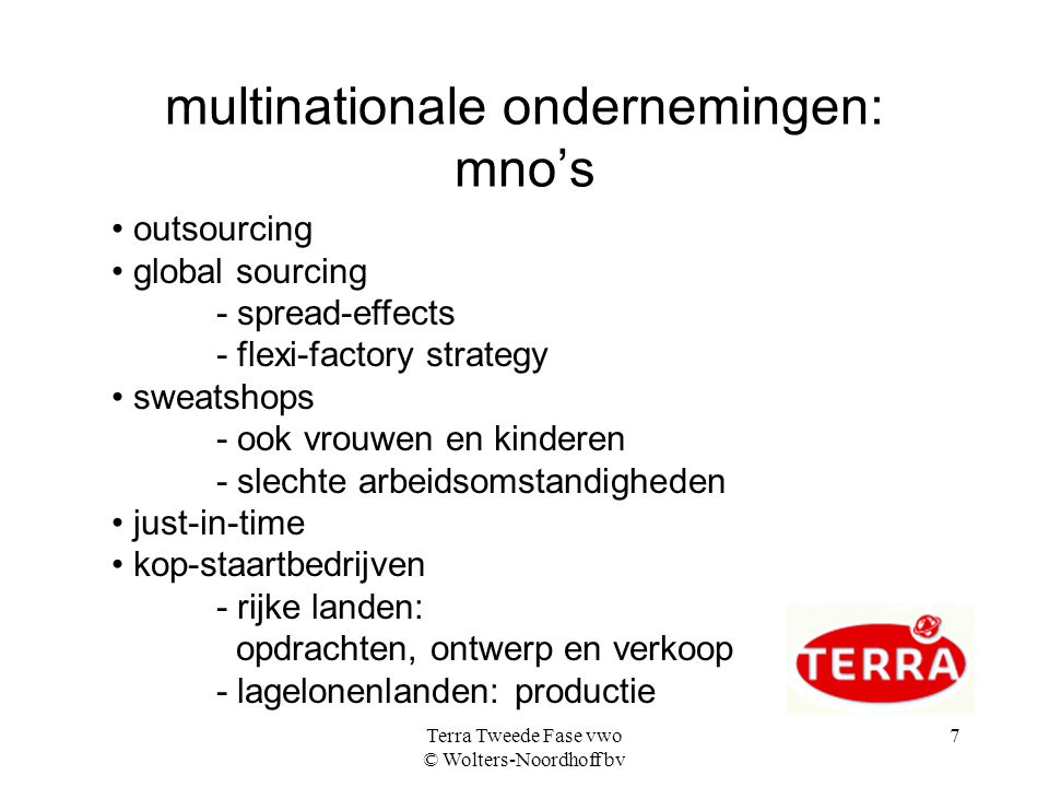 multinationale ondernemingen: mno's