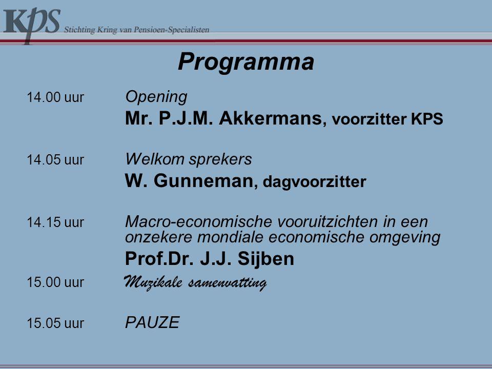 Programma Mr. P.J.M. Akkermans, voorzitter KPS