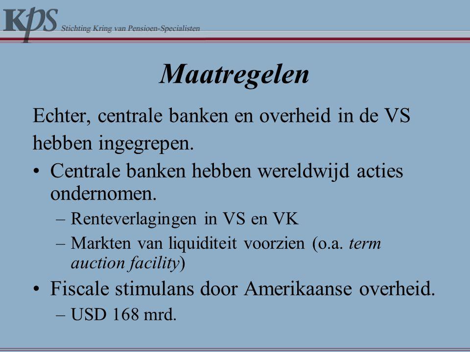 Maatregelen Echter, centrale banken en overheid in de VS