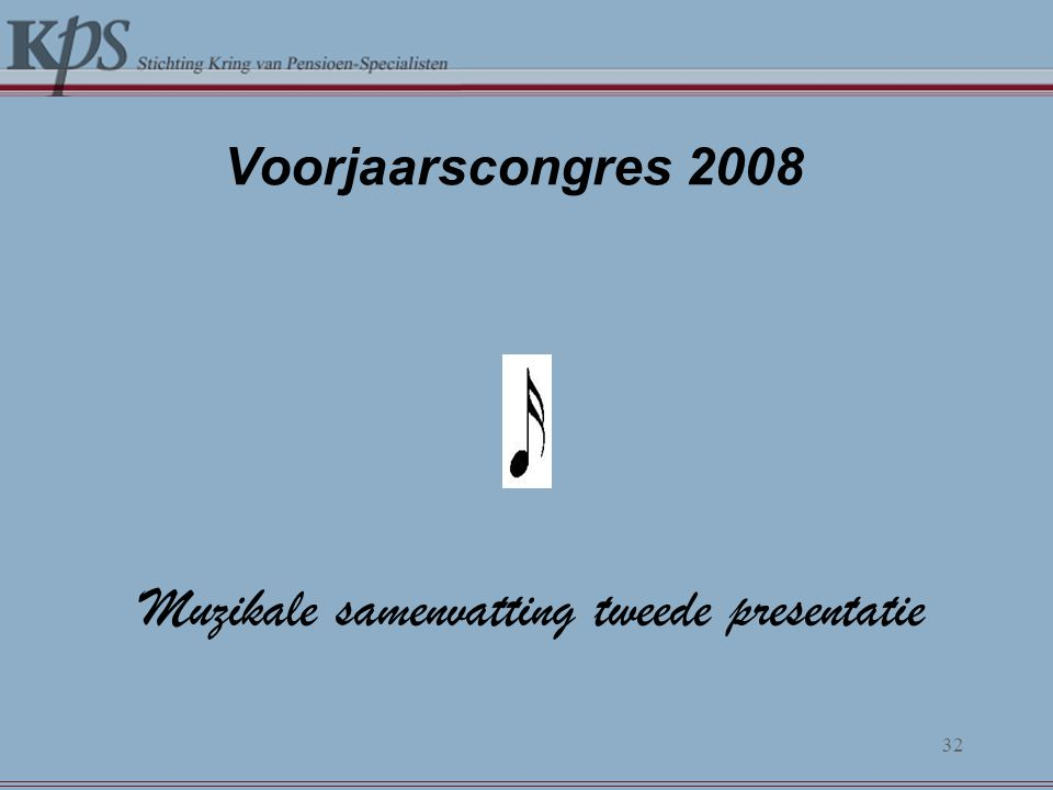 Muzikale samenvatting tweede presentatie