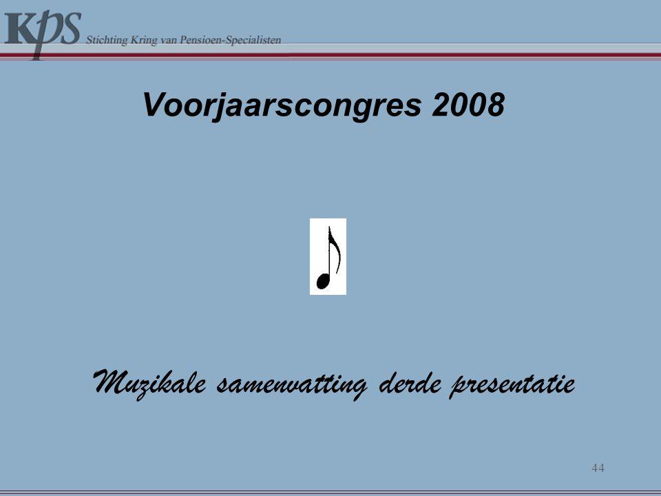 Muzikale samenvatting derde presentatie
