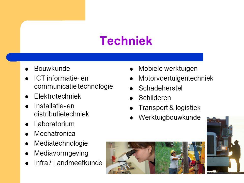 Techniek Bouwkunde ICT informatie- en communicatie technologie