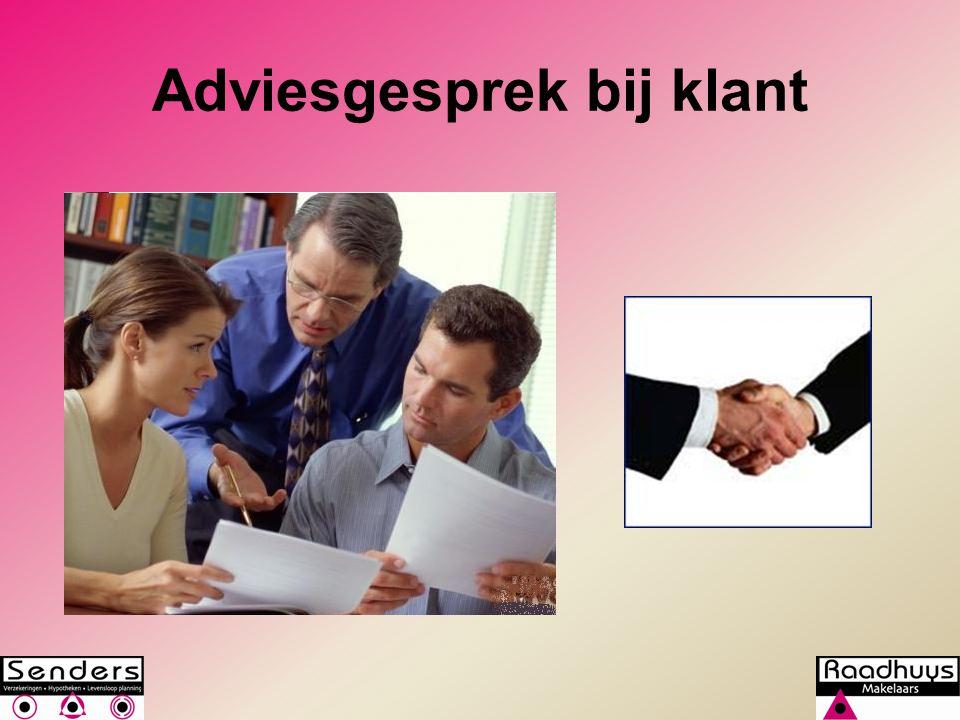 Adviesgesprek bij klant