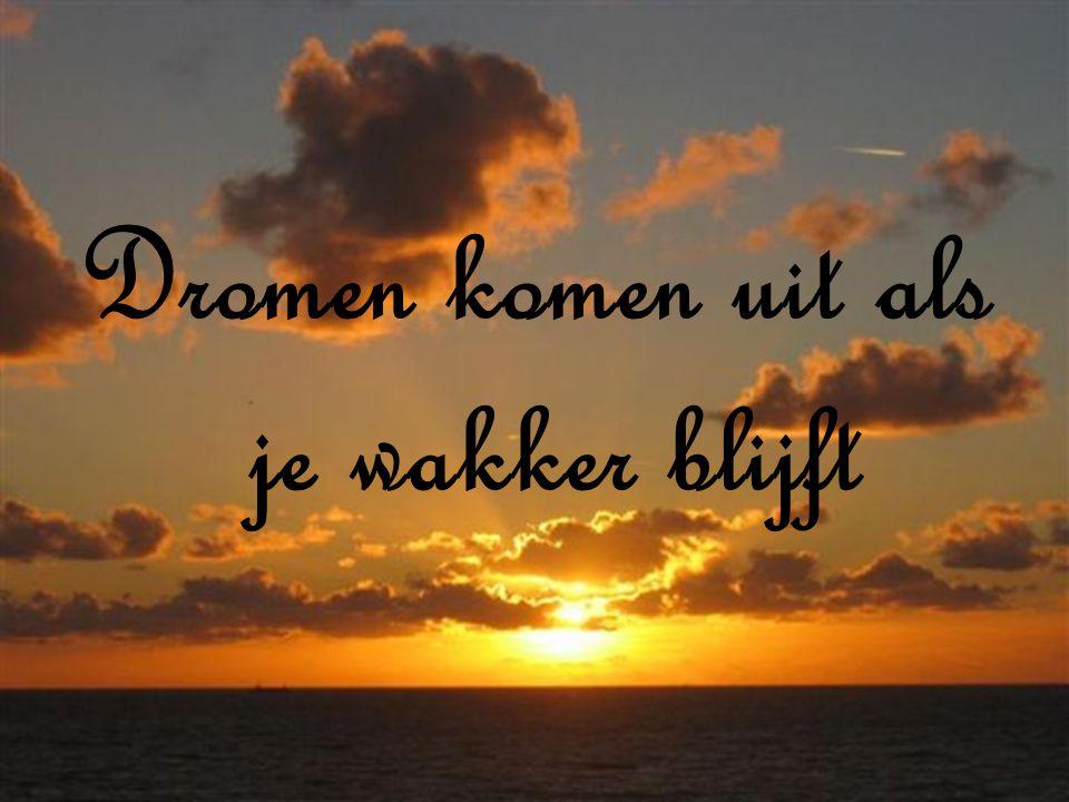 Dromen komen uit als je wakker blijft