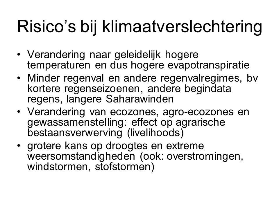 Risico's bij klimaatverslechtering
