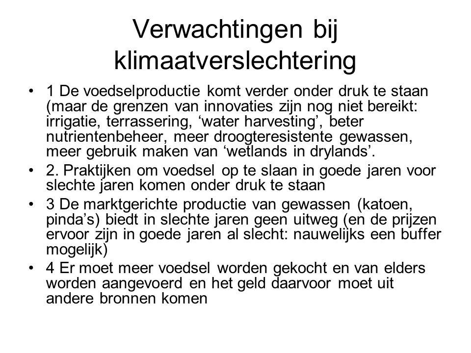 Verwachtingen bij klimaatverslechtering