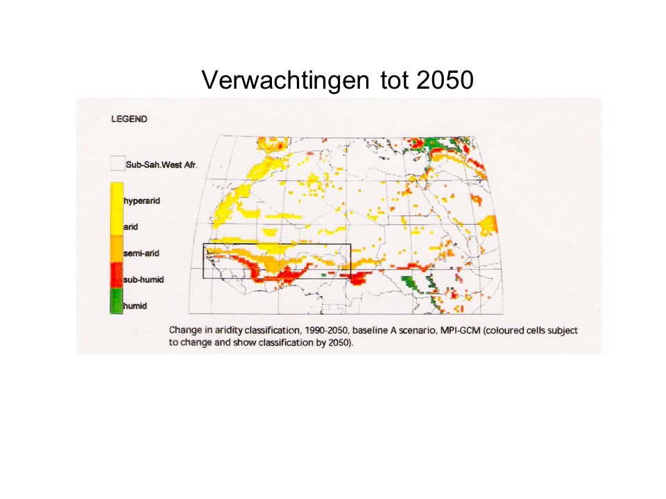 Verwachtingen tot 2050