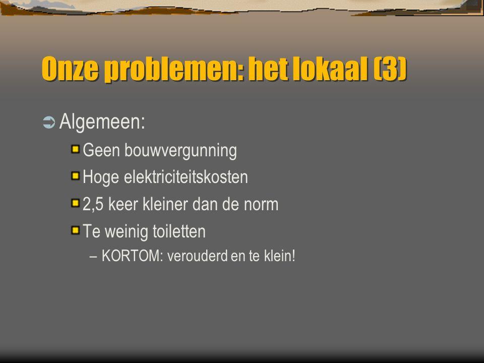 Onze problemen: het lokaal (3)