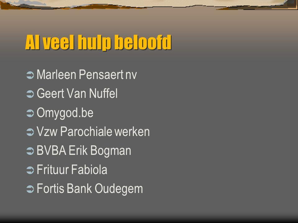 Al veel hulp beloofd Marleen Pensaert nv Geert Van Nuffel Omygod.be
