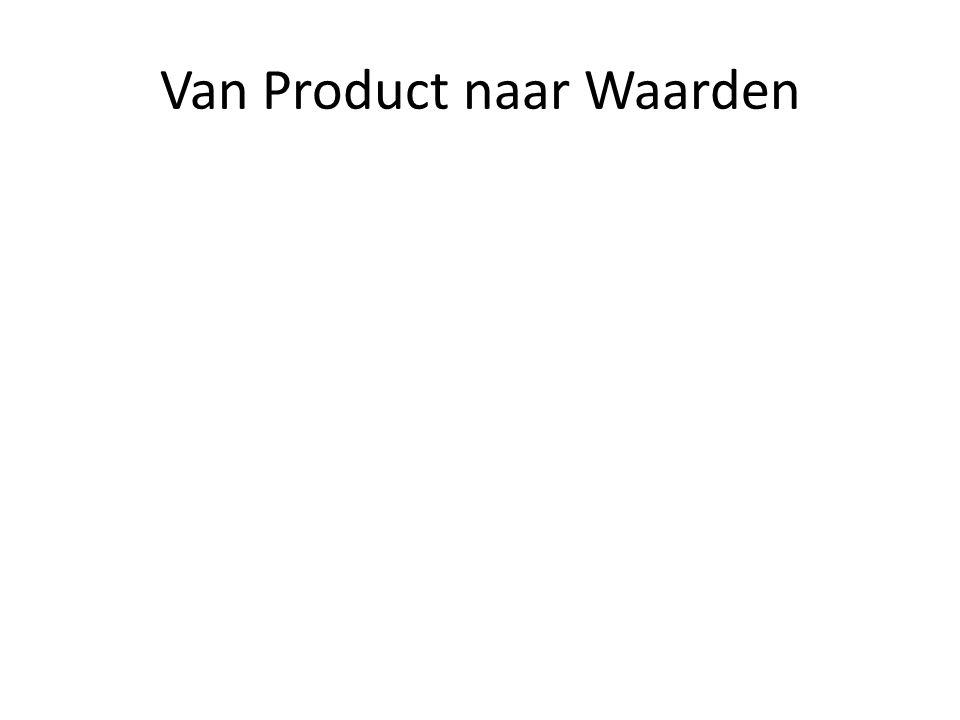 Van Product naar Waarden