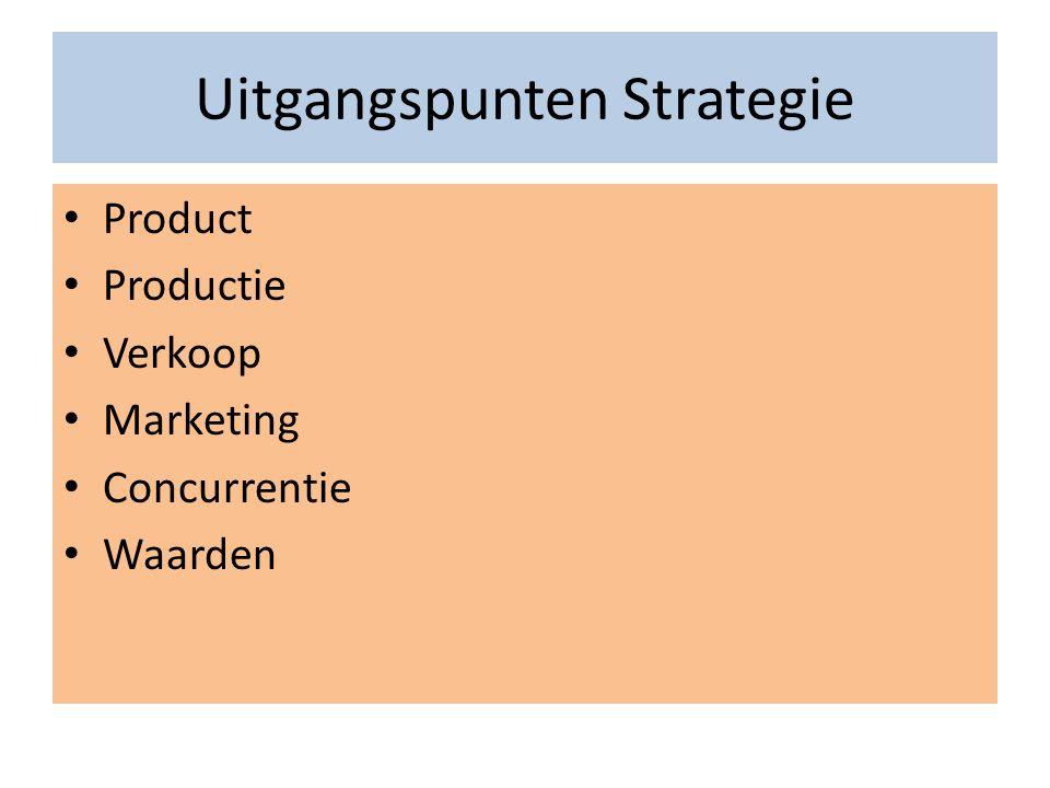 Uitgangspunten Strategie