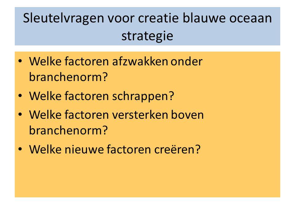 Sleutelvragen voor creatie blauwe oceaan strategie