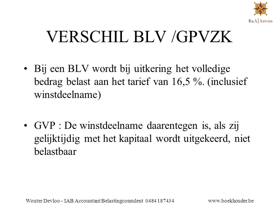 WOUTER DEVLOO TEL 053 81 01 25 VERSCHIL BLV /GPVZK.