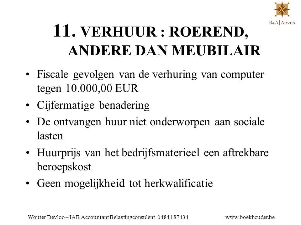 11. VERHUUR : ROEREND, ANDERE DAN MEUBILAIR