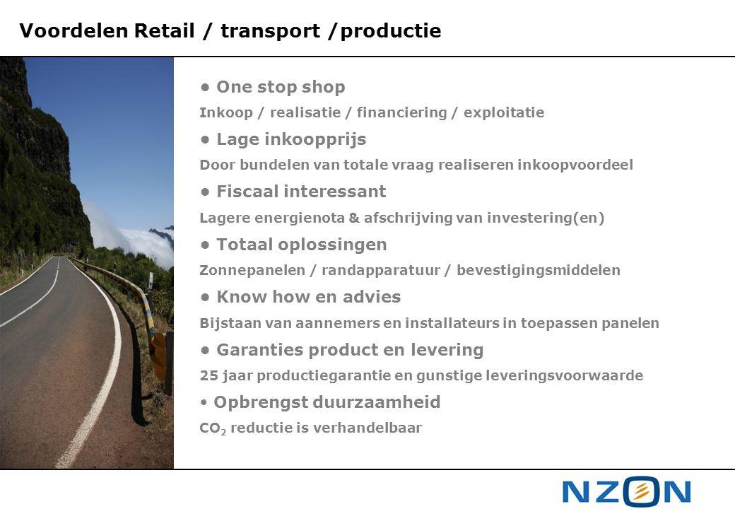 Voordelen Retail / transport /productie