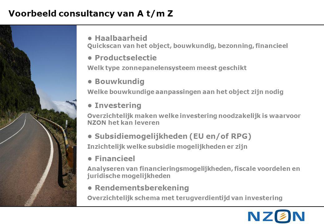 Voorbeeld consultancy van A t/m Z