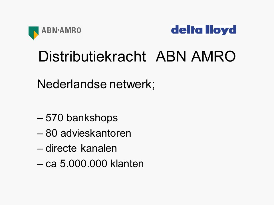 Distributiekracht ABN AMRO
