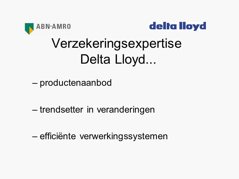 Verzekeringsexpertise Delta Lloyd...