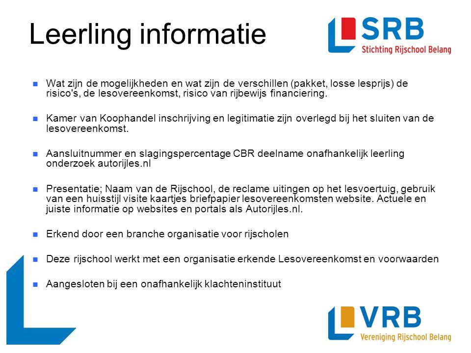Leerling informatie