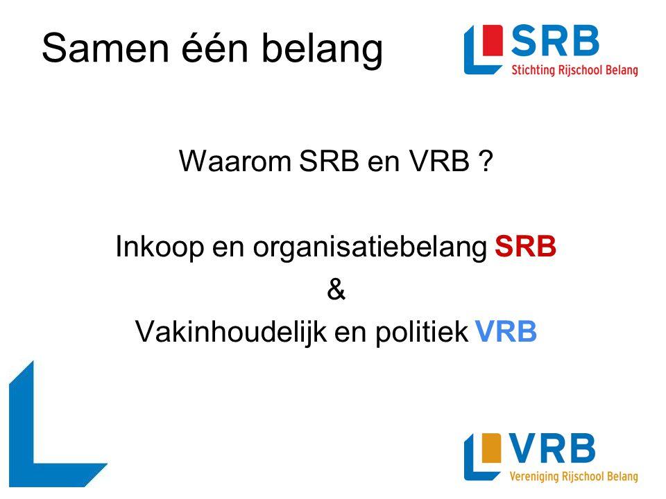 Samen één belang Waarom SRB en VRB Inkoop en organisatiebelang SRB &