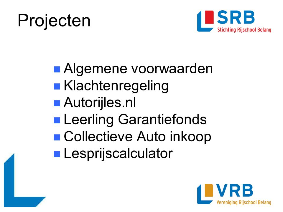 Projecten Algemene voorwaarden Klachtenregeling Autorijles.nl