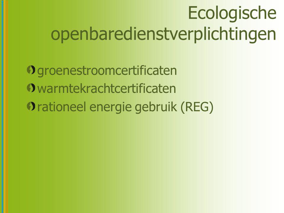Ecologische openbaredienstverplichtingen