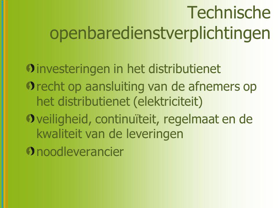 Technische openbaredienstverplichtingen