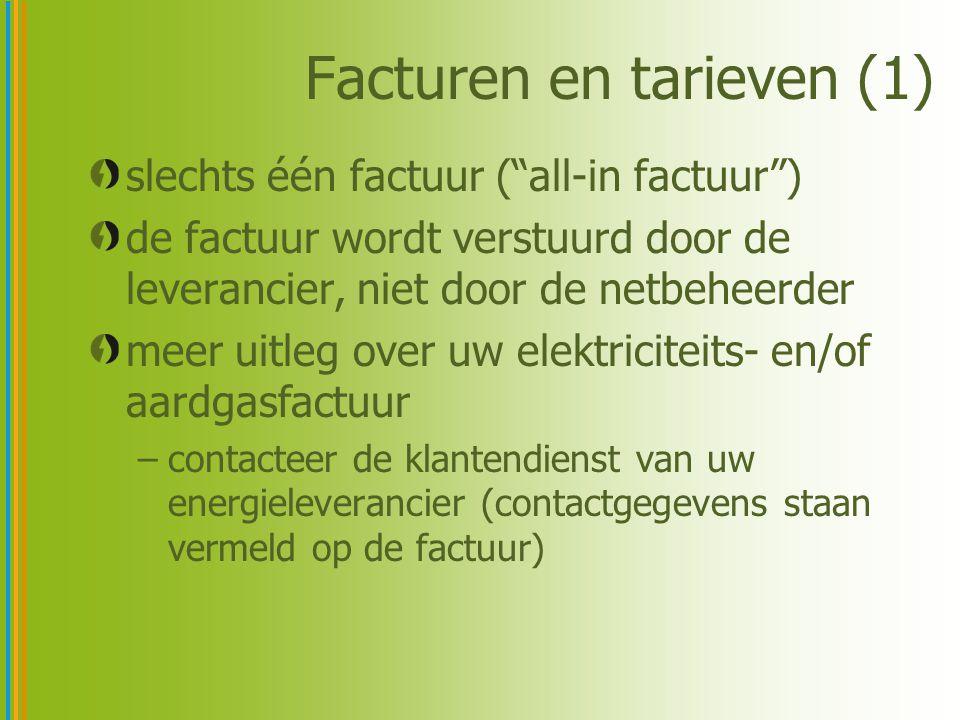 Facturen en tarieven (1)