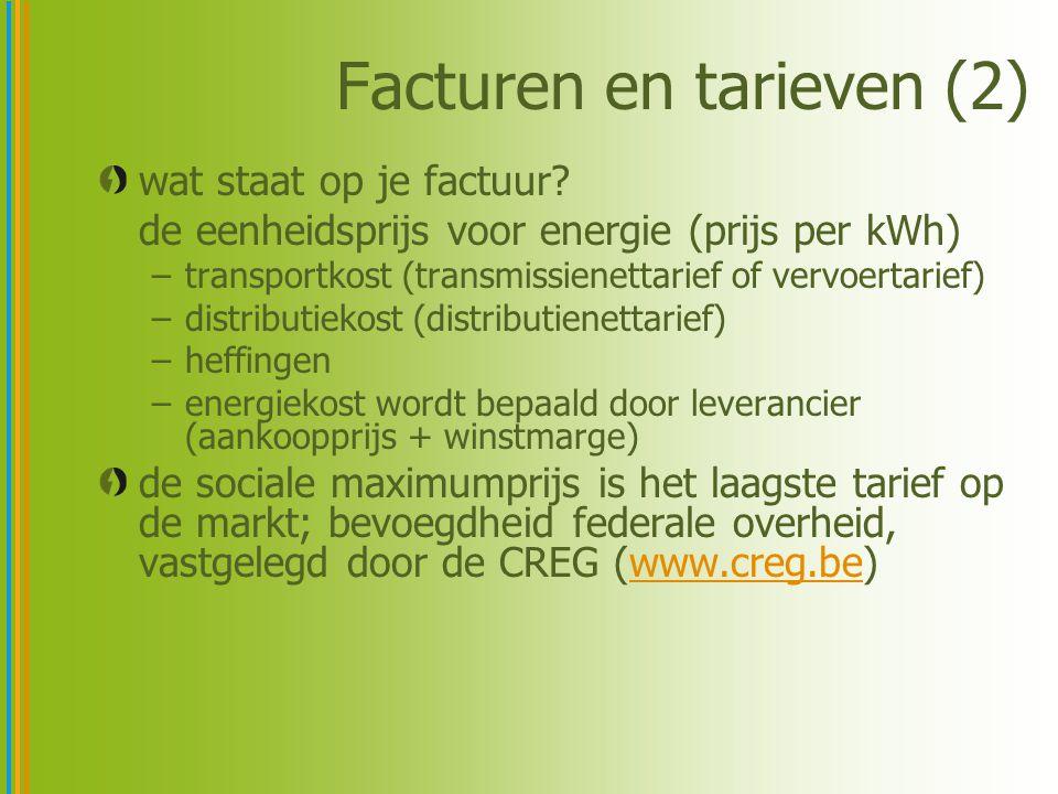 Facturen en tarieven (2)