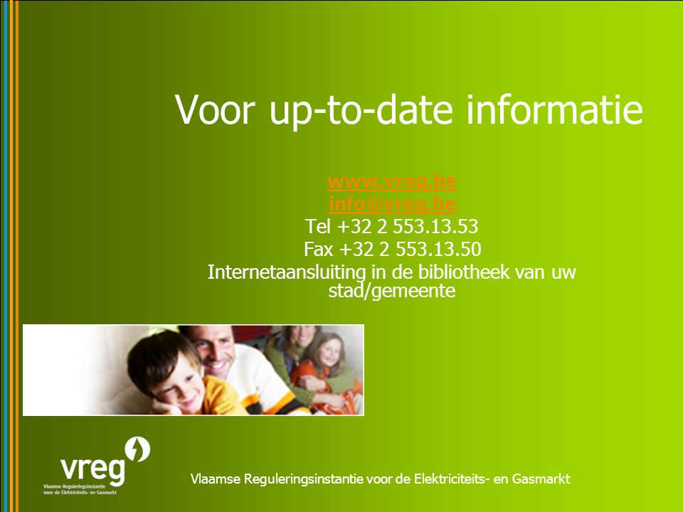 Voor up-to-date informatie