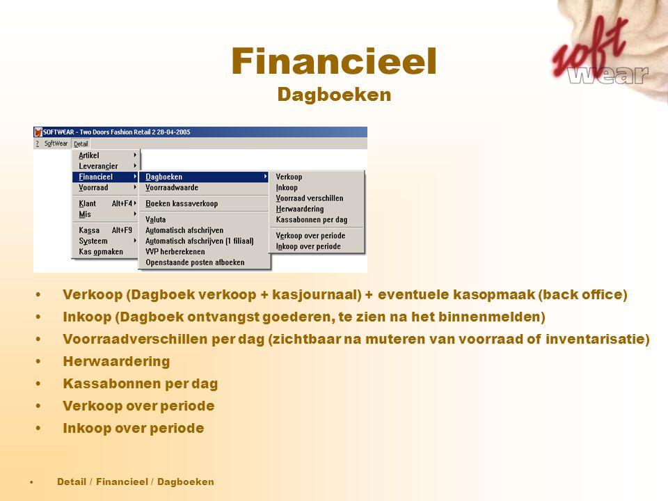Financieel Dagboeken Verkoop (Dagboek verkoop + kasjournaal) + eventuele kasopmaak (back office)