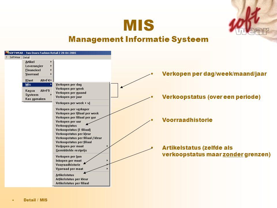 MIS Management Informatie Systeem