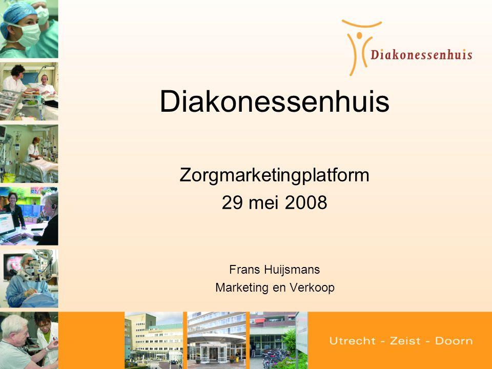 Zorgmarketingplatform 29 mei 2008 Frans Huijsmans Marketing en Verkoop