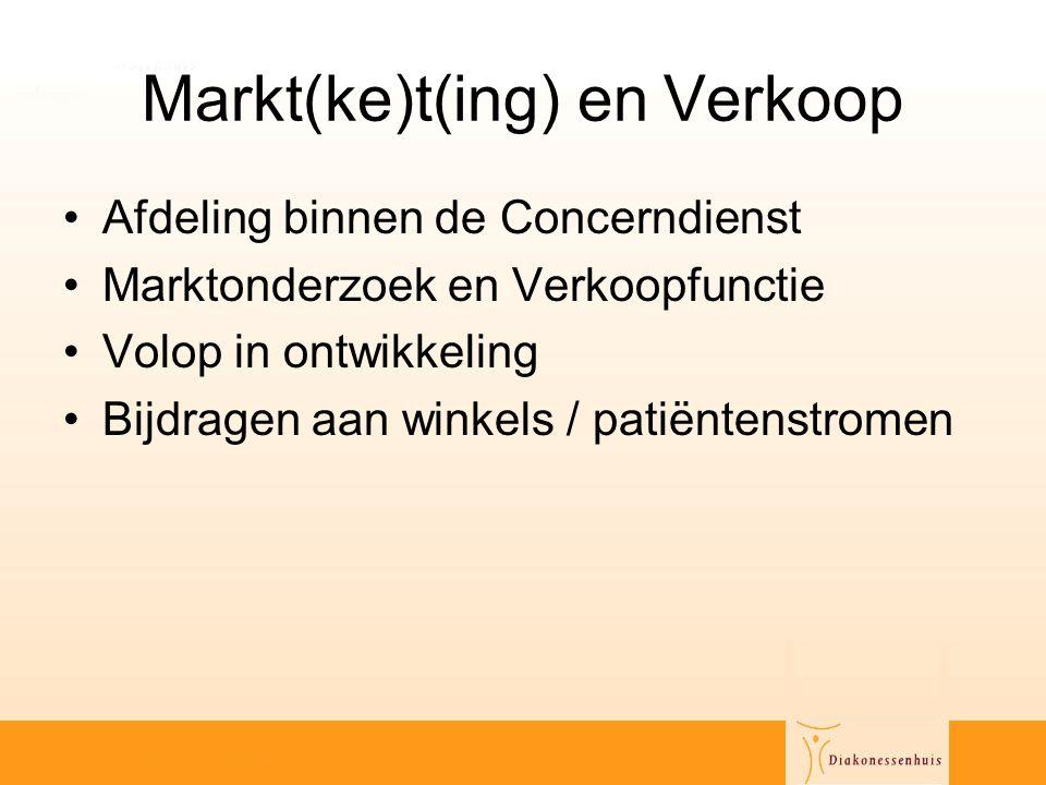 Markt(ke)t(ing) en Verkoop