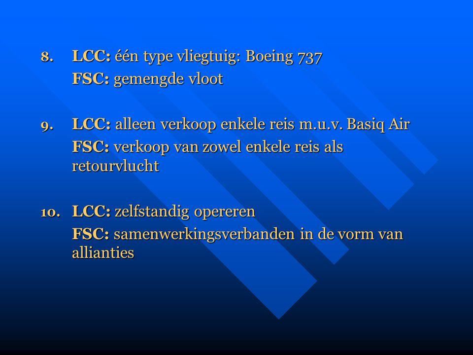 FSC: verkoop van zowel enkele reis als retourvlucht