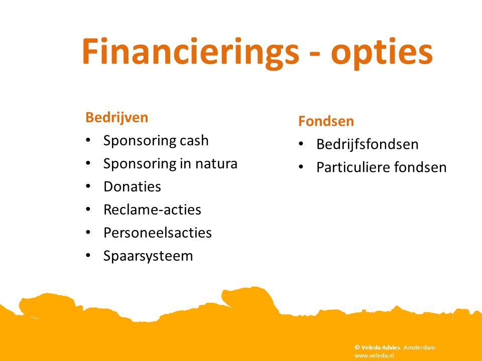Financierings - opties