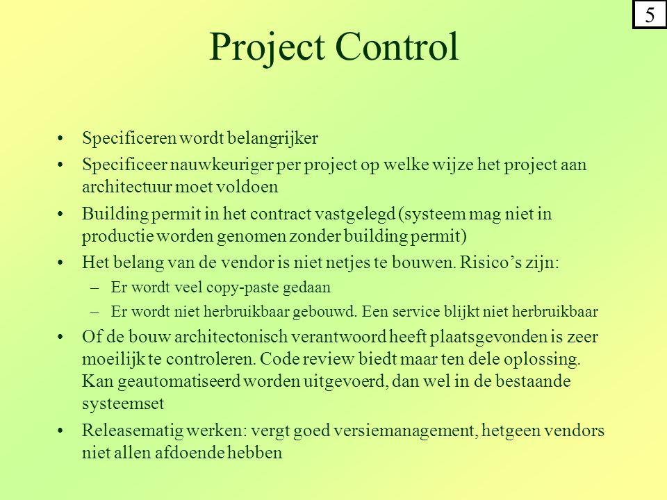 Project Control 5 Specificeren wordt belangrijker