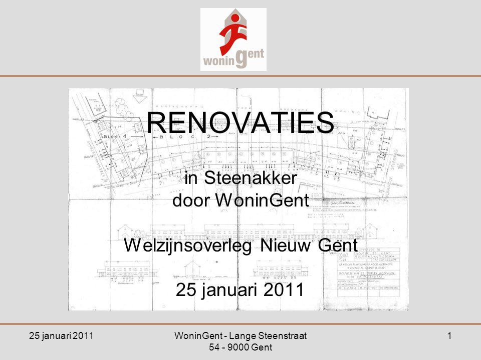 RENOVATIES in Steenakker door WoninGent Welzijnsoverleg Nieuw Gent