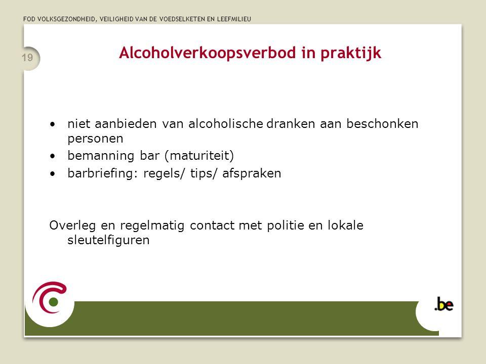Alcoholverkoopsverbod in praktijk