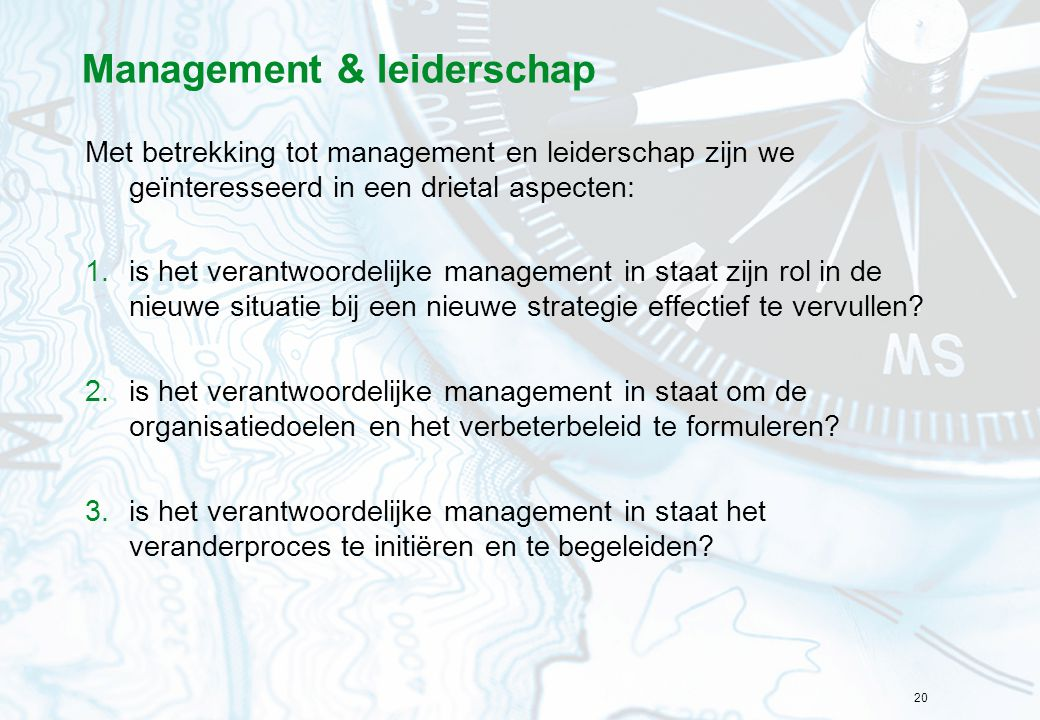 Management & leiderschap