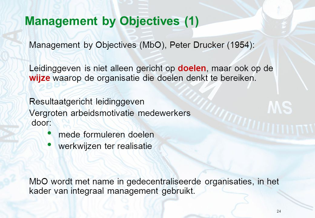 Management by Objectives (1)