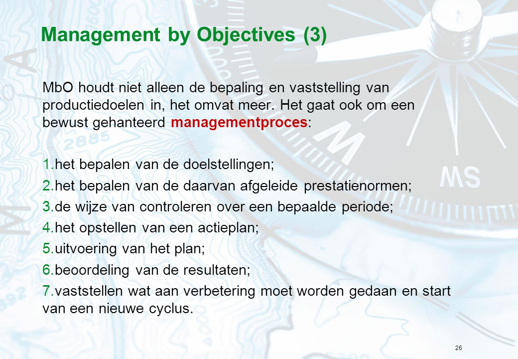 Management by Objectives (3)